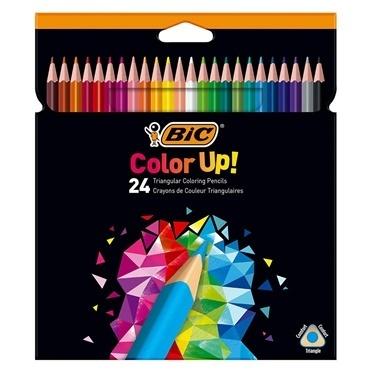 Bic Üçgen Kuru Boya Kalemi 24Lü Kutu Renkli